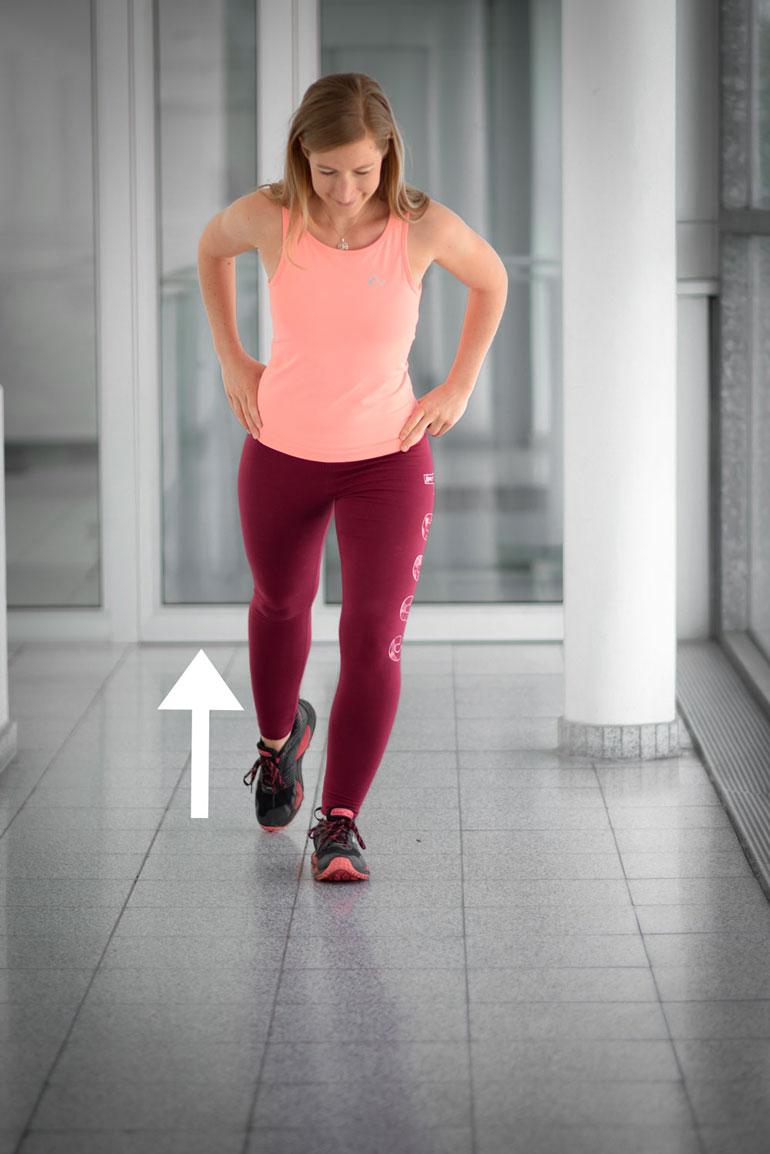 gleichgewicht übung beinachse